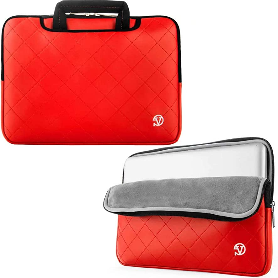 VanGoddy Gummy 15.6 inch Laptop Neoprene Sleeve Bag Case Briefcase for 14-15.6 inch laptop - for Dell Inspiron 14 3000 Series (Red)