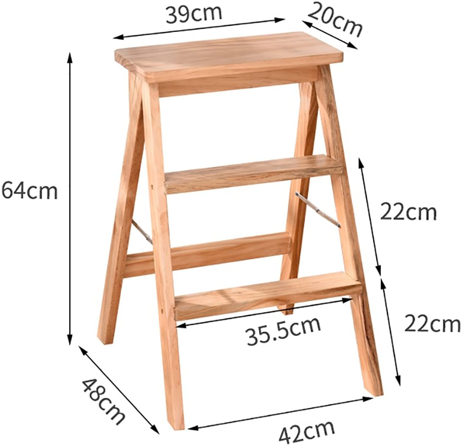 Step Stool Solid Wood Adult Step Stool Household Folding Chair Increase Stool