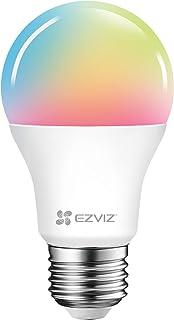 EZVIZ LB1 Color Smart gloeilamp WiFi LED Smart Bulb E27 8 W, compatibel met Alexa, Google Home, dimbaar, afstandsbediening...
