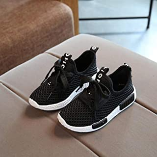 Kids Boys Girls Lace Up Breathable Mesh Shoes Running Sneakers Sports Non Slip First Walker Shoes (Toddler/Little Kid)