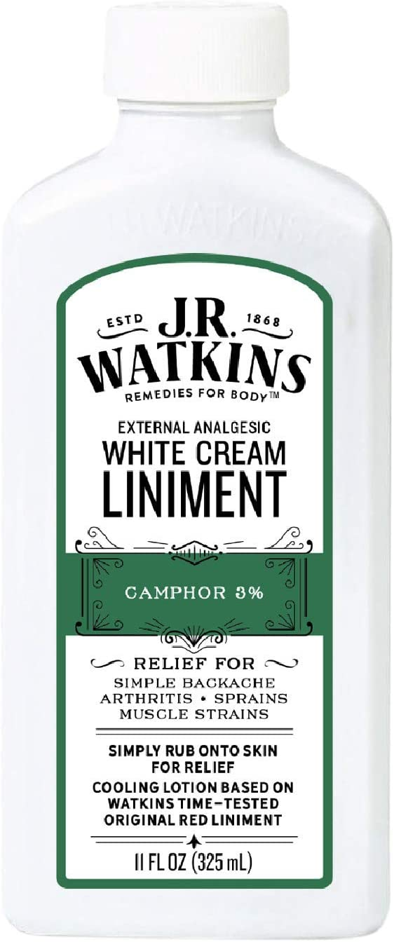 J.R. Watkins White Tampa Mall Cream Liniment – †Financial sales sale Rub Relieving Pain