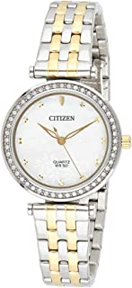 CITIZEN Womens Quartz Watch, Analog Display and Stainless Steel Strap - ER0214-54D