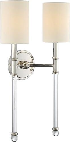 new arrival Savoy House 9-103-2-109 Fremont 2-Light Sconce in Polished outlet sale lowest Nickel outlet online sale
