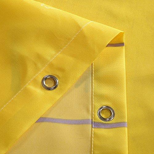 Polyester doek douchegordijn, bedrukt badkamer gordijn bad account 240 * 200 hoog CM gele schaal douchegordijn