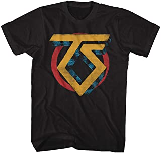 Twisted Sister Heavy Metal Band Vintage TS Logo Adult T-Shirt Tee