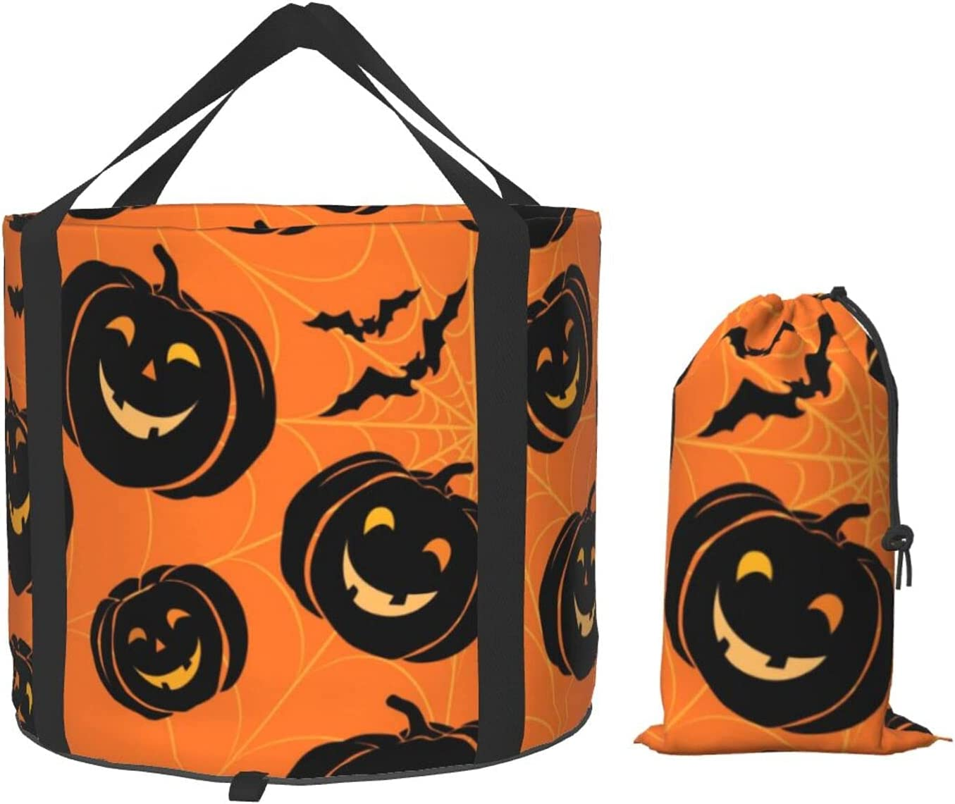New item Halloween Bombing free shipping Pumpkin Bat Spider Bucket Multifunctional Collapsible