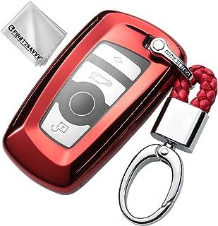 Rojo Funda para Llave Smart Key para BMW 1 2 3 4 5 6 7 Series X1 X3 X4 X5 X6 M2 M3 M4 M5 M6 Carcasa Protectora [Suave] de [Silicona] KY-BMW-ZN-GJTM-08G11
