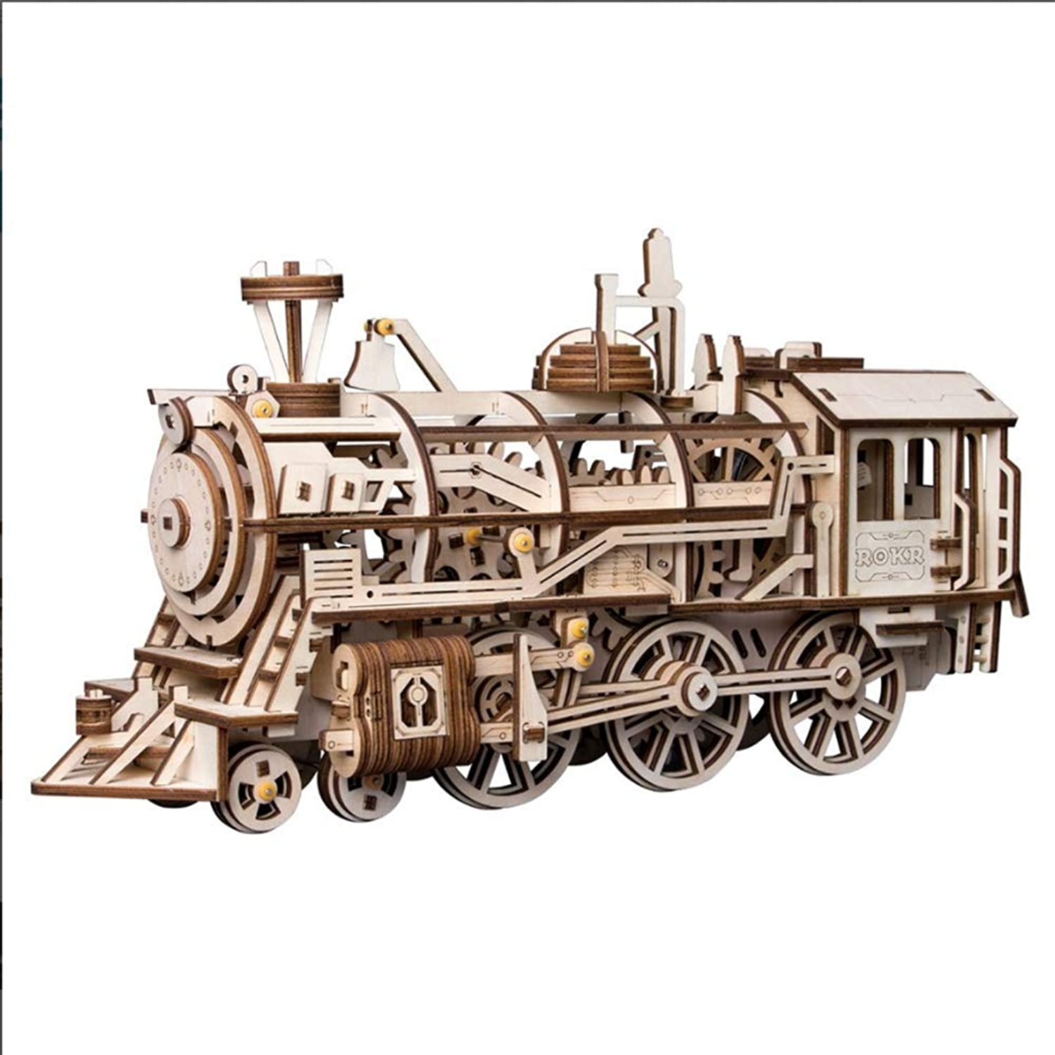 ZLD 3D Puzzle Train Model, Toys, Wooden Crafts, Clockwork Power, Wooden Puzzles, Handmade Home Gifts, Wooden Gears, Decorations