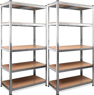 comprar comparacion Deuba Set 2 Estanterias Metálicas 5 niveles almacenamiento Carga máxima de 875kg - Taller bricolaje portaherramientas