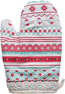 Dragon Troops Cotton Oven Mitts Heat Resistant to 500° F, Kitchen Oven Gloves for Baking,G