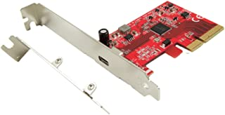 Ableconn PEX-UB159 USB 3.2 Gen 2x2(20 Gbps)1ポートType-C PCIe 3.0カード-USB 3.2 Gen2x2 PCI Express Gen3 x4レーンホストアダプターカード(ASMedia...