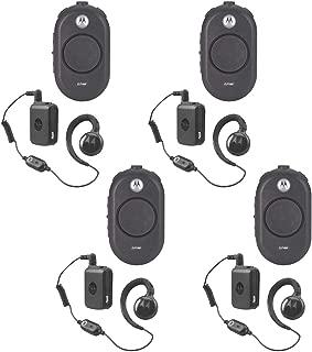 4 Pack of Motorola CLP1060 Business Two-Way Radio with Bluetooth 6 Channel 1 Watt