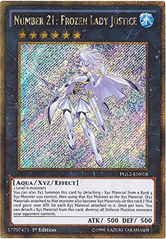 Yu-Gi-Oh! - Number 21: Frozen Lady Justice (PGL2-EN018) - Premium Gold: Return of the Bling - 1st Edition - Gold Secret Rare
