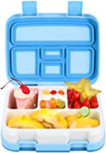 Bento Lunch Box for Kids Adults, 5 Compartment Toddler School Meal Prep Container, Portable Leak Proof On-the-Go Snack Containers, BPA-Free, Dishwasher Safe