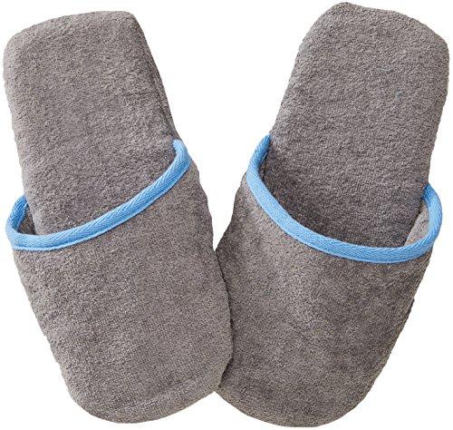 Sowel® Frottee Slipper ohne Silikonnoppen, Damen und Herren, 100% Bio-Baumwolle, Universalgröße, Geschlossen