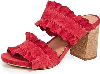 red ruffle heels