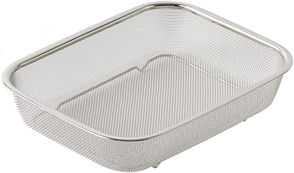Stainless Steel Drain Basket Max 51% OFF Colander Strainer Frui for Fashionable Washing