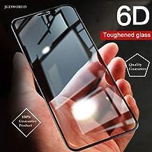 JGDWORLD Mi 6 pro 6D Tempered Glass Full Glue for Redmi 6 pro Tempered Glass, Full Edge-Edge Screen Protection for Mi 6 pro (Pack of 1, Black)