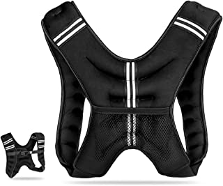 JBM Weighted Vest 12 lb for Men and Women Neoprene Fabric Sand Filling & Adjustable Buckle Strap for Workout Cross Fit Strength Training, Running, Muscle Building, Weight Loss, Fitness