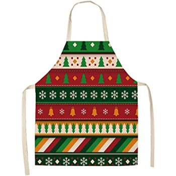 Dusenly Delantal de Navidad para Mujer, Delantal de Cocina a ...