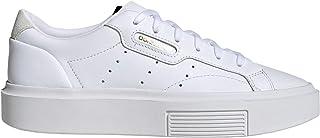 adidas Originals Women's Sleek Super Platform Sneakers Leather White in Size US 8.5