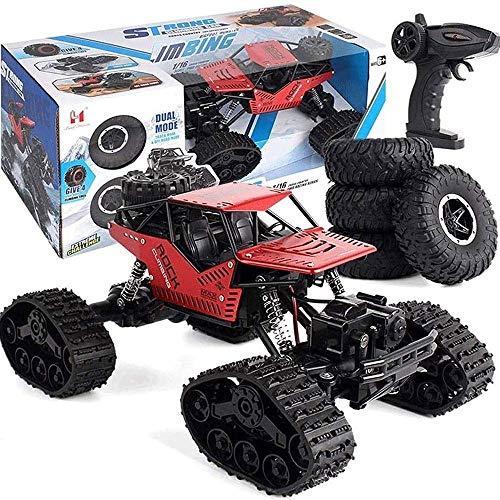 ZCYXQR 4WD Todo Terreno Escalada Aleación RC Camión 2.4G Escalada Neumáticos reemplazables Control Remoto para niños Coche de Juguete Neumático Grande Amortiguador (Regalo de cumpleaños Festivo)