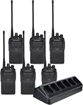 6 Pack of Motorola VX-261 UHF Two Way Radios PREPROGRAMMED with 6 Unit Charger (VAC-6058)