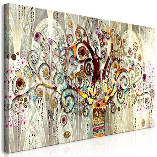 murando Quadro Gustav Klimt 140x70 cm Stampa su tela in TNT XXL Immagini moderni Murale Fotografia Grafica Decorazione da parete 1 pezzo Albero Sassi Art l-A-0033-b-a