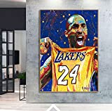 UIOLK El Gran ídolo del Jugador de Baloncesto Kobe Bryant 24 póster decoración de la Sala de Estar Lienzo Pintura Pared Artista decoración del hogar