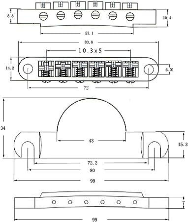 ライオンヘッドパターンテールピース / ROLLER SADDLE TuneOMaticスタイルのギターブリッジインレスポールギターの彫刻