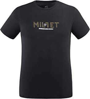 Millet Tape Logo TS SS T-Shirt, Black - Noir, XS Mens