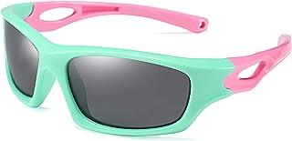 FEISEDY Kids Polarized Sport Sunglasses Rubber Frame Boys...