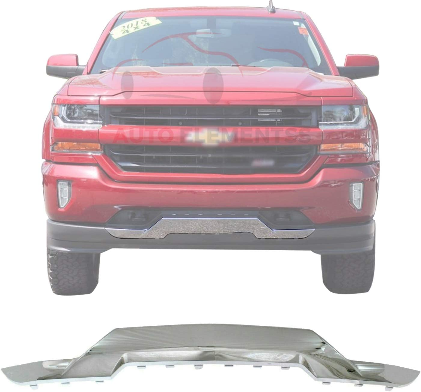 New Front Skid Plate Impact service Bar Chrome Chevrolet 2016-2018 Max 46% OFF S For