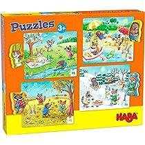 HABA-301888-Puzzles-Las-Cuatro-Estaciones-Puzle-Infantil-Multicolor-301888