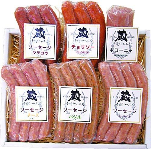 鹿児島県産豚肉100%使用 ボロニア入りソーセージ6種類セット A06.ギフト箱入り包装