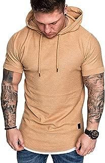Hombres Patchwork Slim Fit Hoodie OtoñO Blusa Adolescente Top Hombre Camiseta Manga Corta Tees Deporte Modal Ropa Impresión Deportiva Parte O-Cuello Redondo Blusa T Shirt