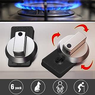 Stove Guard Oven Lock Child Safety Burner Knob Locks Heatproof Anti-Break for Kids Elderly Pet Toddlers Alzheimers Large Universal Design Baby Proof (Black)