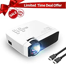 Azk Projectors,Mini Video Projector, 50% Brighter 176'' Display Portable LED Projector,Home Theater Movie Projector Support 1080P HDMI USB SD Card VGA AV for TV Laptop PC Xbox PS4 iPhone Android