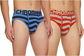 Chromozome Men's Solid Brief (Pack of 2) (Color & Prints May Vary)