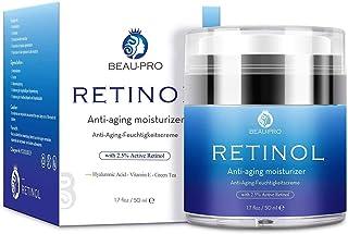 Crema Hidratante con Retinol para Día y Noche por- Crema Antiarrugas retinol 25% ácido hialurónico vitamina EHidratan...