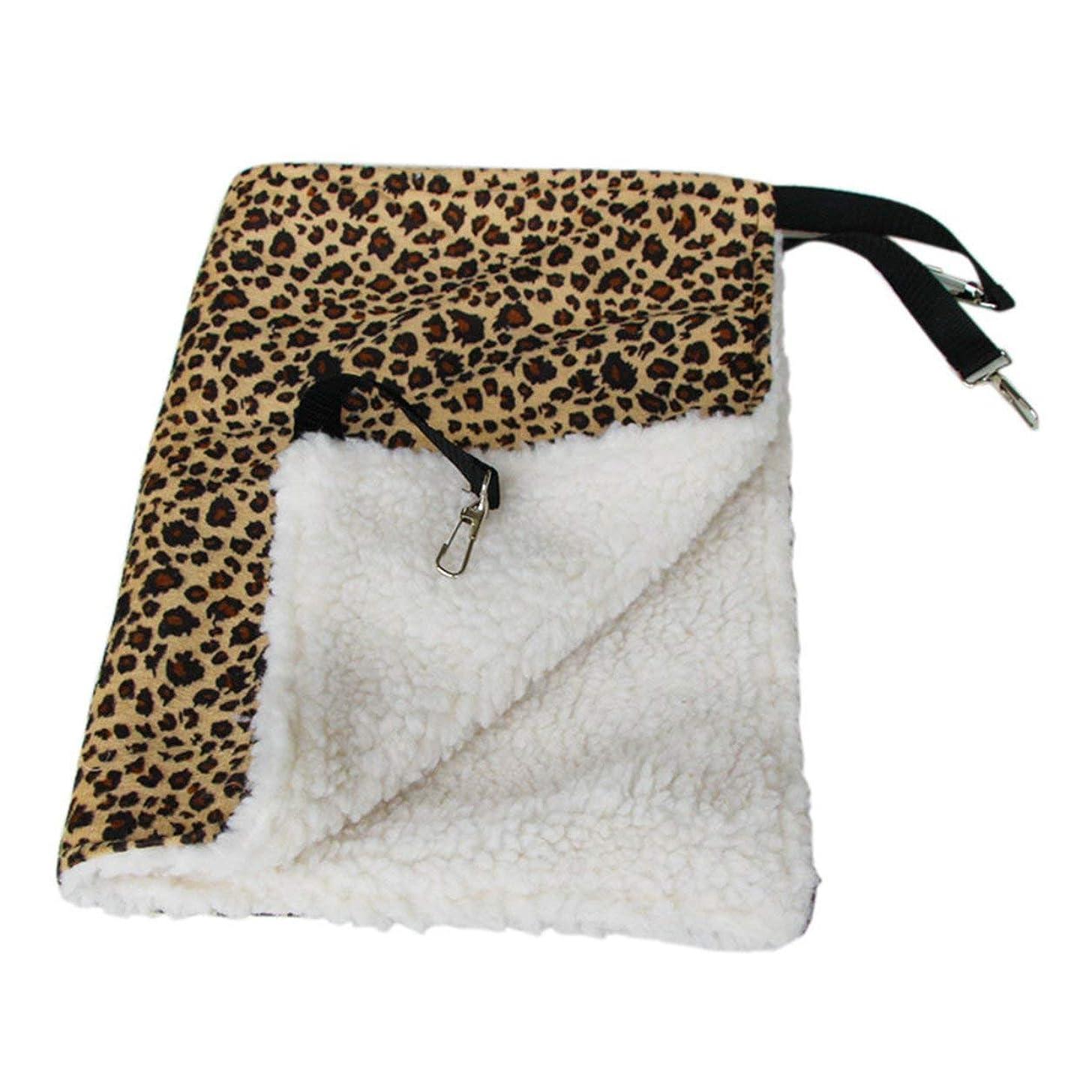 遮る略語レンダリングSaikogoods 暖かいハンギング猫ベッドマットソフトキャットハンモック冬ハンモックペット子猫ケージベッドカバークッションエアベッドペット 黄 L