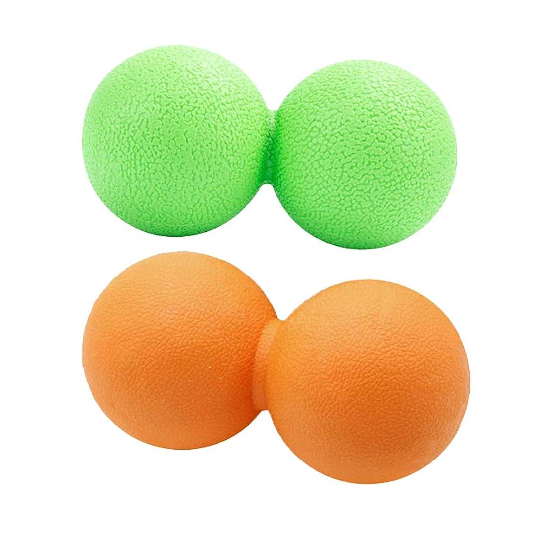 ソート自分を引き上げるあいまいなdailymall 2xピーナッツマッサージボール筋膜リリーストリガーポイントディープティッシュマッサージャー