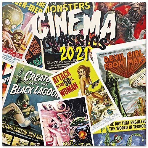 ERIK - Calendario de pared 2021 Cinema Classics, 30x30 cm