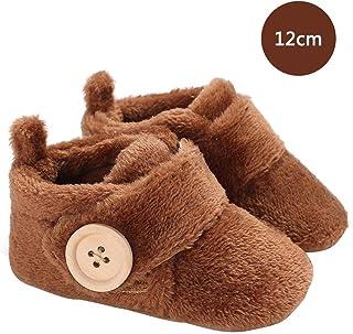 生まれたばかりの靴 ベビーシューズ - 冬の綿毛のスーパーソフトベビーシューズソフトボトム幼児の靴