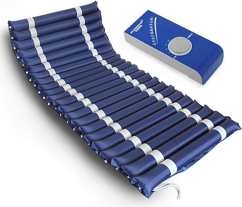 WJSW Special Anti-Dekubitus-Luftkissen-Einzelbettmatratze mit Stummschaltpumpe, blau