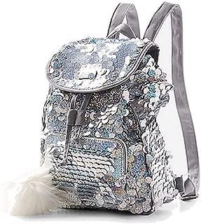 Silver Sequin Mini Rucksack Backpack
