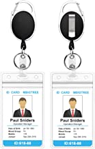retractable badge id holder