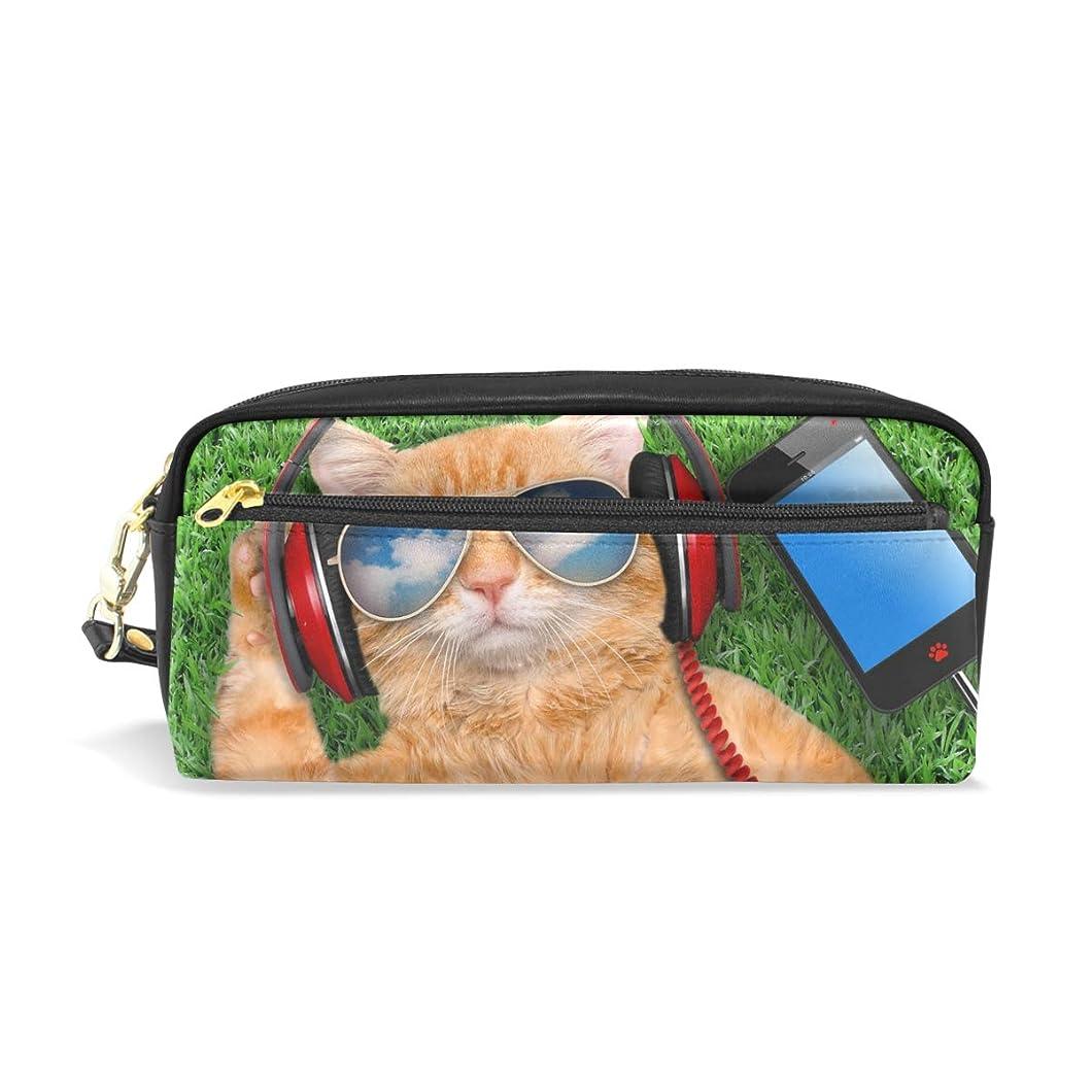 フェリー販売員パラダイスAOMOKI ペンケース ペンポーチ かわいい おしゃれ 化粧ポーチ 小物入り 多機能バッグ 男女兼用 プレゼント ギフト 猫柄 かわいい