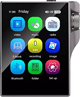 Student Bluetooth 4.2 Mp3 Player, Hifi Lossless Sound Quality Music Player, 2.4 Inches (TF Card Can Be Expanded To 128G),16g