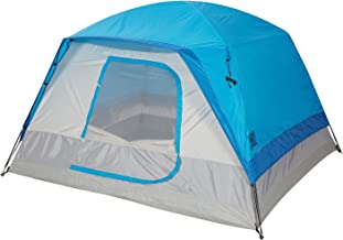 Toogh 6 Person Camping Big Horn Tent Waterproof Backpacking Double Layer Tents for Outdoor Sports 10' x 9' -Center Height 74in [Blue] Provide Top Rainfly, Advanced Venting Design